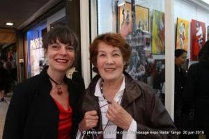 Arlette Gilleron Prod'Homme et Isabelle Lamy à la Galerie Numéro 1