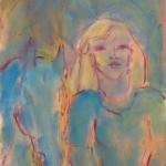 Symphonie en bleu Huile sur toile l46 x H55 cm